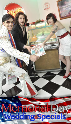 "The ""Married by the King on Memorial Day"" Elvis Wedding"