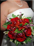 Las Vegas Bride with bouquet