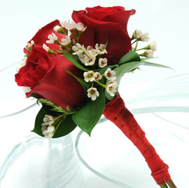 3 Rose Bouquet (Red)