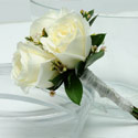 3 Rose Bouquet (White)