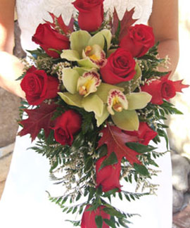 Custom Cascade Bridal Bouquet Custom Bouquets Also Come In A Large