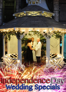 Independence Day Indoor or Outdoor Gazebo Wedding Special