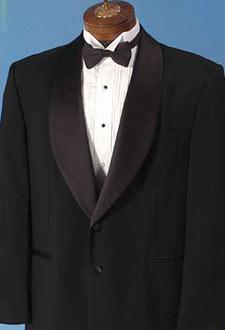 Black Tuxedo and Black Tie Formal Wear Rental