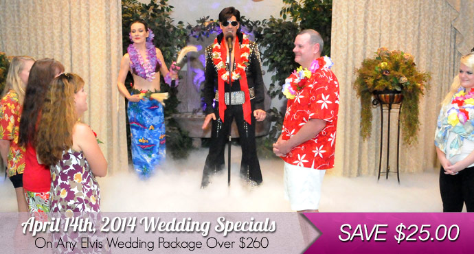 SAVE $25.00 at Viva Las Vegas Weddings | Hot August Nights Wedding Specials