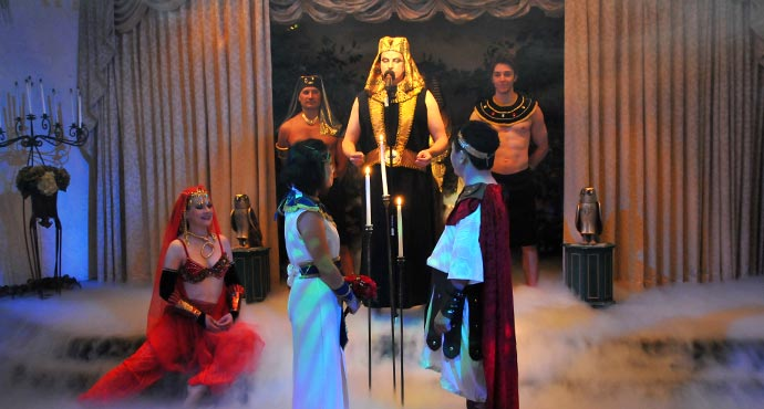 Themed Las Vegas Weddings | Egyptian Themed Wedding Package