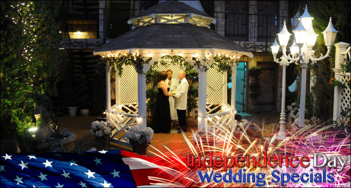 Independence Day Wedding Specials from Viva Las Vegas Wedding Chapels