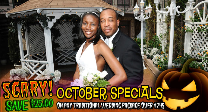 Scary October Specials On Las Vegas Wedding Packages Viva