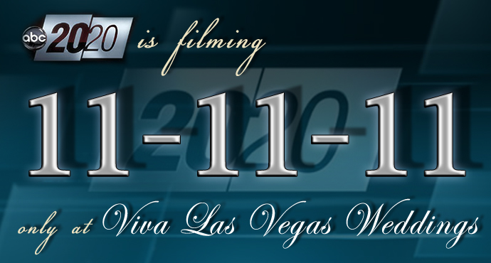 20/20 on ABC will be filming at Viva Las Vegas Wedding Chapels