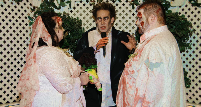 themed las vegas weddings the viva las vegas zombie themed wedding