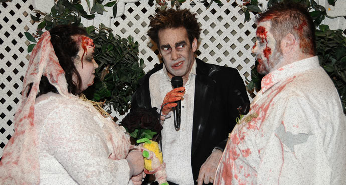 Zombie Themed Wedding | Halloween Weddings in Las Vegas