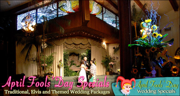 April Fools' Day Wedding Specials from Viva Las Vegas Weddings