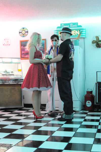 Elvis In The Doo Wop Diner Rockabilly Weekender Wedding Package