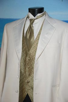 Elegant Cream Three Button with Lapel Features Richards Collection