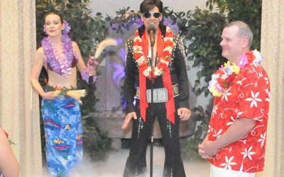 Elvis Blue Hawaii Wedding