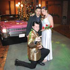 The one and only vegas wedding - The Pink Caddy - one of a king wedding package!