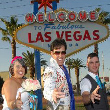 Get Married at the popular Las Vegas Sign