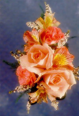 Mixed Roses and Carnations Corsage