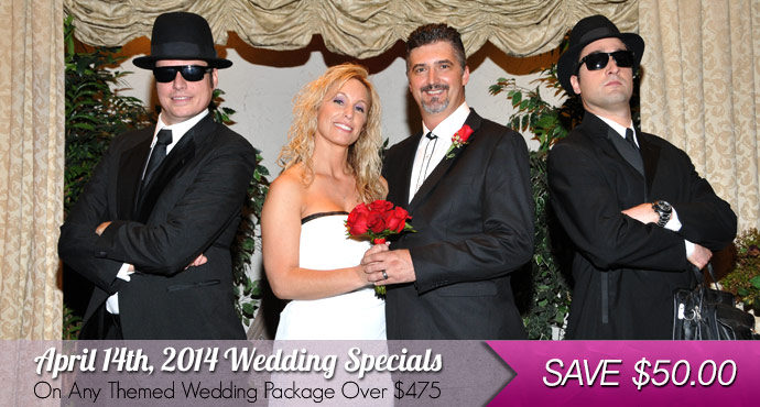 SAVE $50.00 On Any Themed Wedding Package Over $475