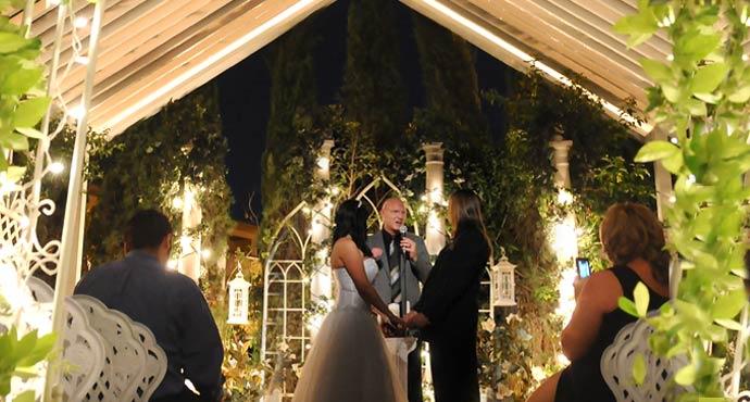 Viva Las Vegas Outdoor Daytime Garden Weddings