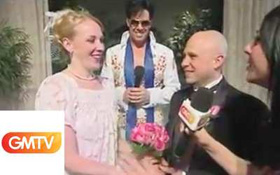 GMTV visits Viva Las Vegas Wedding Chapel
