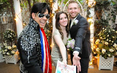 Elvis In The Garden Las Vegas Wedding