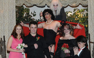 Rocky's Horror Wedding at Viva Las Vegas Wedding Chapel