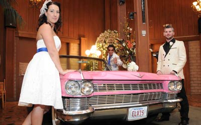 The Elvis Pink Caddy Wedding