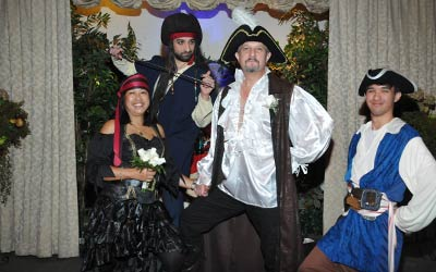 Pirate Themed Wedding Package Las Vegas Chapel
