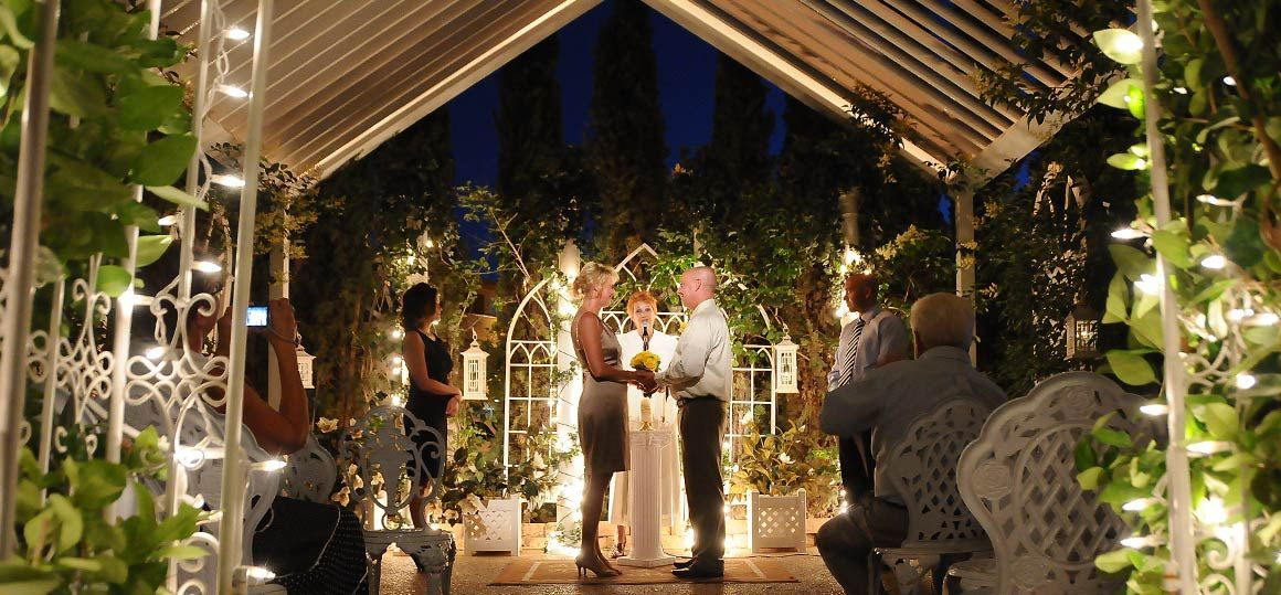 Las Vegas Outdoor Weddings Nighttime Garden Wedding Packages