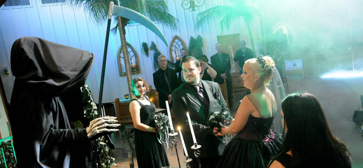 Las Vegas Weddings Original Gothic Themed Wedding Package